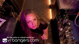 VR BANGERS Young blonde gets fucked by bartender'_s big black cock