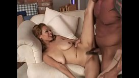 Unshaved Honey DiJour'_s pussy on this stunning big tit porn star gets filled with dick