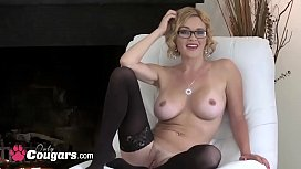 Delicious MILF Takes Off Her Panties &amp_ Fucks Her Tight Hole