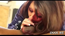 Stunning lesbian babe gets her big muff licked passionately