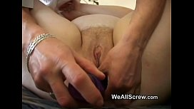 y. guy dildos old womans ass and fucks her