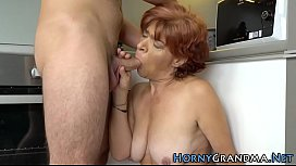 Granny gets cum soaked
