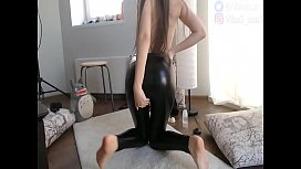 Black Leather Leggings Tight Fit My Delicious Ass