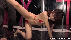 Yui Shimizu is moaning while tied up and getting fingerfucked