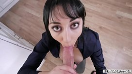 Alessandra Snow is a busy stepmom who tries to make time  and satisfy her stepsons need by giving him a hot blowjob.