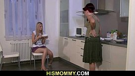 Older mom eats her s.'_s girlfriend cunt