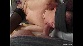 Redhead granny takes a dicking