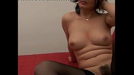 Mature amateur slut playing with a dildo