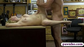 Firm ass blonde babe railed by pawn guy in his pawnshop