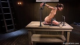 Perky tits babe in device gets whipped