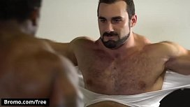 Hunk Bottom Dominated By A Huge Muscular Man With A Big Cock - BROMO