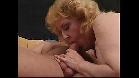 Redhaired grandma seduces grandpa into anal sex