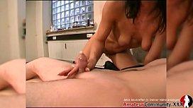 Porn casting: This girl milks off three guys &amp_ lets them pound her! AMATEURCOMMUNITY.XXX