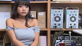 Huge tits latina shop employee teen caught stealing