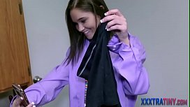 Petite teen gets fingered and plowed