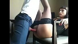 Brunette Cutie In Stockings Gets Her Vagina Penetrated