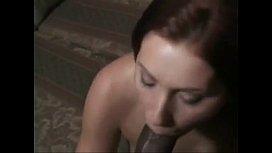 SissyHypnoz.com - Brunette girl makes dark cock cum in her mouth