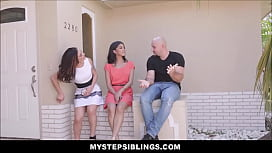 Two Hot Latina Step Sisters Sophia Leone And Jezebeth Compete Fuck White Guy For A Job