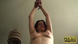 Tied up mature submissive
