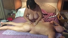 Wife giving husband a great massage with happy ending