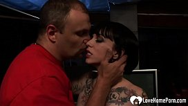 Lusty tattooed chick loves some double penetration