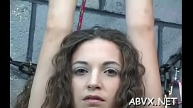 Mature can'_t live without extreme bondage scenes to stimulate her slit