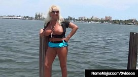 BBC Rome Major Fucks Granny Mandie McGraw On The Dock!