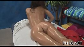 Pretty honey gets a hard fuck after a sensual massage