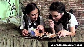 Horny Students Jelena Jensen &amp_ Aria Giovanni Try Sex!