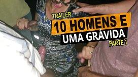 10 homens e uma grávida, Cristina Almeida em um menage no cinema com vários desconhecidos, casal amador - Kratos Parte 1\/4