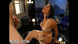 Lewd guys are delighting babe with loads of lusty pissing