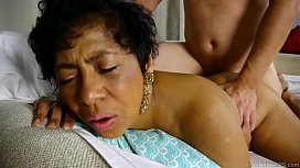 Beautiful busty black old spunker loves fucking and facial cumshots
