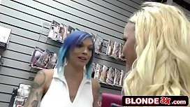 Two Horny Beauties In BBC Gloryhole 3Some - Anna Bell Peaks &amp_ Iris Rose