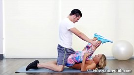 Hot Stepmom Tegan James Family Workout Taboo Fuck With Her s.