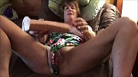 Milf With Great Boobs Masturbating To Orgasm For Her Lover