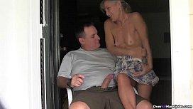ov40-Mature couple handjob
