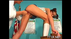 Stunning legal age teenager babe sucks her teacher and gets drilled hard