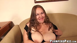 Kinky plumper teasing before interracial penetration