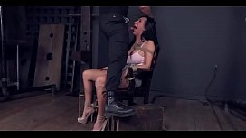 bondage fetish - Cute busty brunette got facefucked and pussydrilled - http://GIFALT.COM - bdsm rough sex