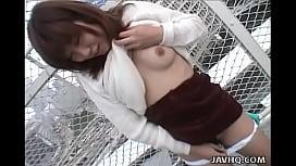 Slutty Asian slut is doggy style fucked in the toilet