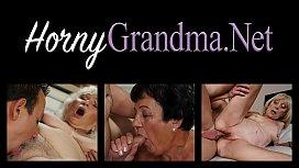 Chubby granny cum dumped