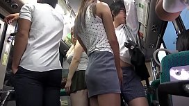 Fucked On The Public Bus, Asian Schoolgirl