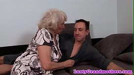 Busty amateur granny gets hairy pussy slammed
