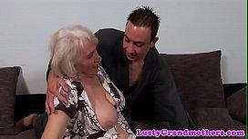 Busty amateur granny gets hairy pussy slammed