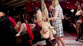 Hot babes and Milf at bdsm swingers party