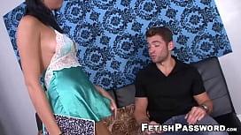 Luscious Nadia Capri makes stud cum with stroking