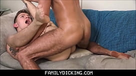 Jealous Step Dad Punishing Blonde Twink Step Son After He Comes Home Late