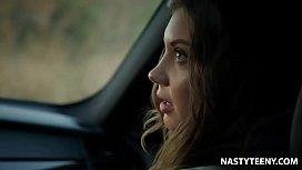 Lonely husband pick up a young hitchhicker - Elena Koshka, Karlo Karrera