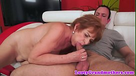 Euro grandma cocksucking and gets slammed