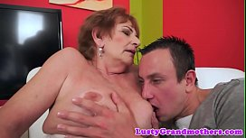 Euro grandma cocksucking and gets slammed